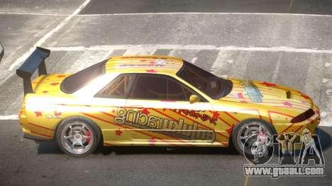Nissan Skyline R32 D-Style PJ2 for GTA 4