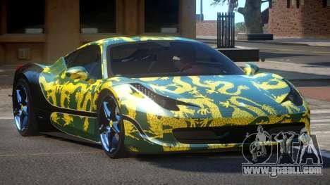 Ferrari 458 SRI-37 PJ2 for GTA 4