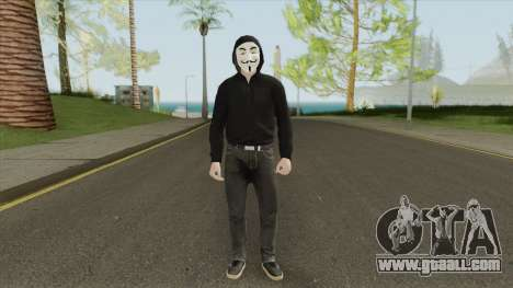 Anonymous Skin (2020) for GTA San Andreas