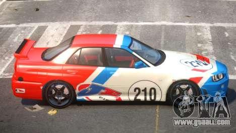 Nissan Skyline R34 D-Style PJ2 for GTA 4