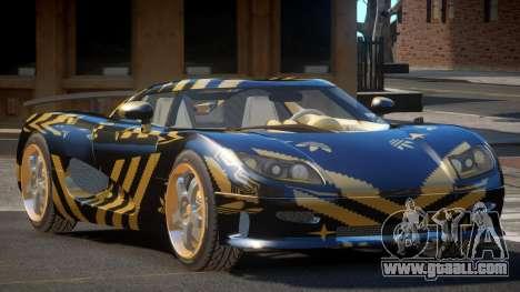 Koenigsegg CCRT Sport PJ3 for GTA 4