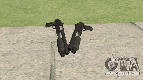 Sawed-Off Shotgun GTA V (Black) for GTA San Andreas