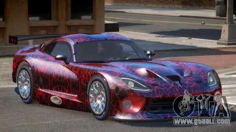 Dodge Viper SRT L-Tuning PJ1 for GTA 4