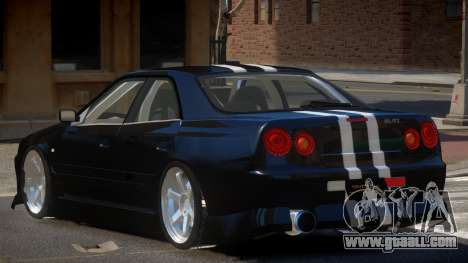 Nissan Skyline R34 SRS for GTA 4