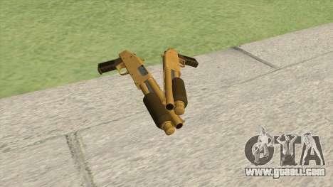 Sawed-Off Shotgun GTA V (Gold) for GTA San Andreas