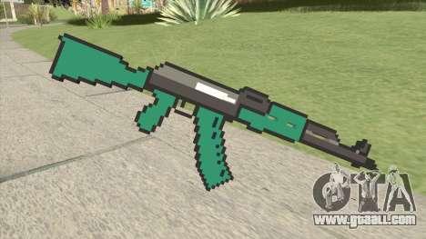 AK47 Pixels (Minecraft) for GTA San Andreas