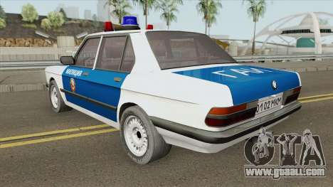BMW 525E (E28) Police 1987 for GTA San Andreas