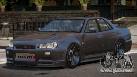 Nissan Skyline R34 D-Style for GTA 4