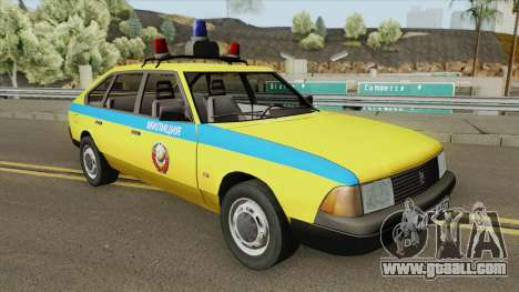21418 AZLK Moskvich (GAI) 1987 for GTA San Andreas