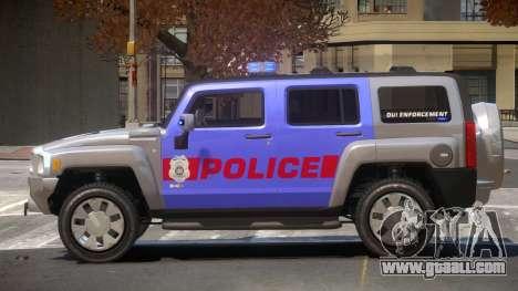 Hummer H3 Police V1.0 for GTA 4