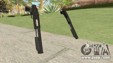 Sawed-Off Shotgun GTA V (Black) for GTA San Andreas