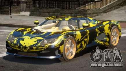 Koenigsegg CCRT Sport PJ1 for GTA 4