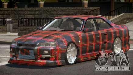 Nissan Skyline R34 SRS PJ4 for GTA 4