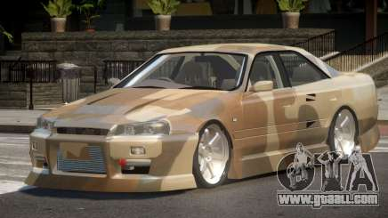 Nissan Skyline R34 SRS PJ1 for GTA 4