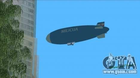 Dirigible of Yugoslav Milicija (police) for GTA Vice City