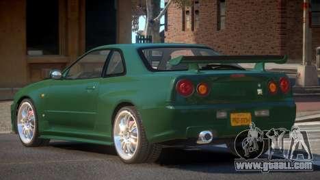 Nissan Skyline R34 GTR V1.0 for GTA 4