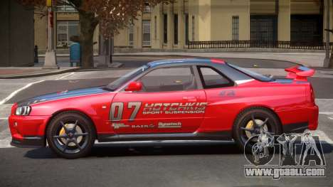Nissan Skyline R34 GT-Style PJ4 for GTA 4