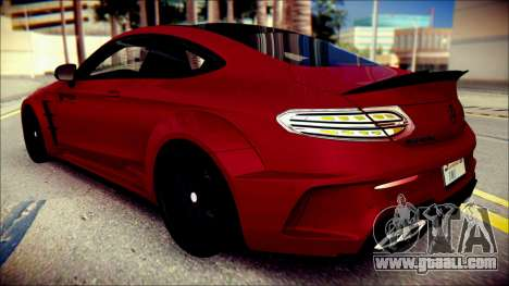 Mercedes-Benz C63 Coupe AMG Prior Design for GTA San Andreas