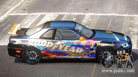 Nissan Skyline R34 R-Style for GTA 4