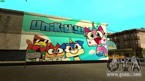 Unikitty Wall HD (San Fierro) for GTA San Andreas
