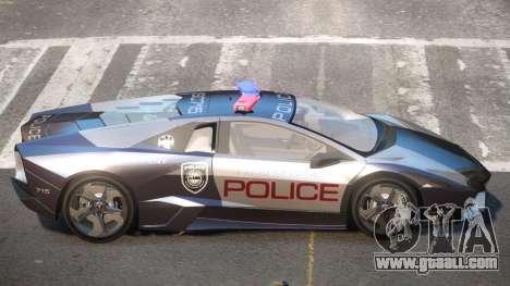 Lamborghini Reventon MS Police for GTA 4