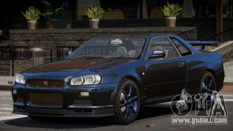Nissan Skyline R34 GT-Style for GTA 4