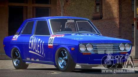 1972 Datsun Bluebird 510 PJ6 for GTA 4