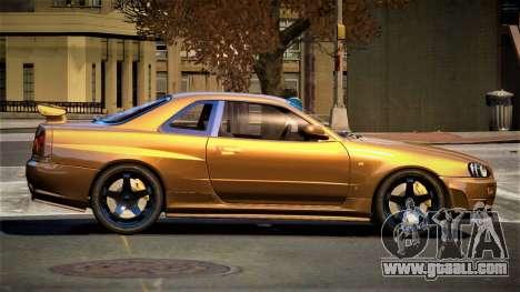 Nissan Skyline R34 SL for GTA 4