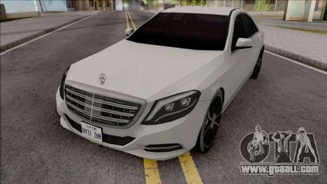 Mercedes-Benz S350 Bluetec 2014 SA Style for GTA San Andreas