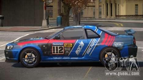 Nissan Skyline R34 GT-Style PJ1 for GTA 4