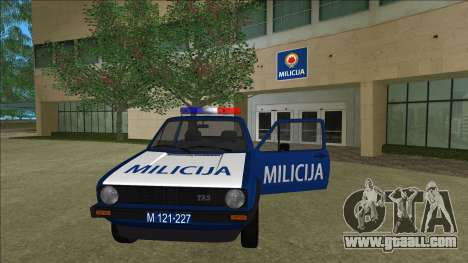 VW Golf Mk1 Yugoslav Yugoslav Milicija (police) for GTA Vice City