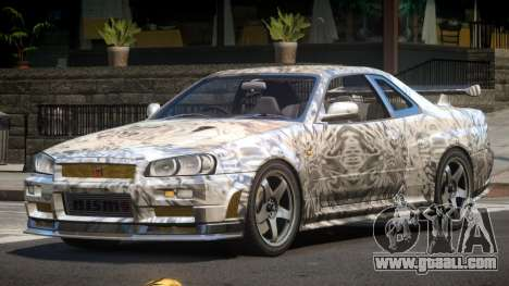 Nissan Skyline R34 SL PJ4 for GTA 4