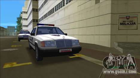 North Macedonian Police Mercedes for GTA Vice City
