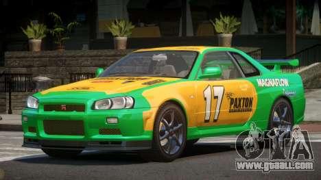 Nissan Skyline R34 GT-Style PJ3 for GTA 4