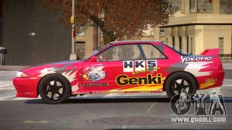 Nissan Skyline R32 V-Style PJ3 for GTA 4