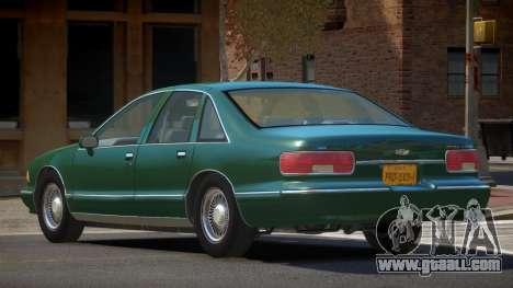 Chevrolet Caprice V1.2 for GTA 4