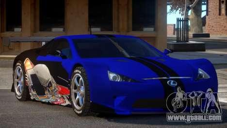 Lexus LFA R-Style PJ3 for GTA 4