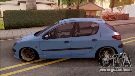 Peugeot 206 Blue for GTA San Andreas