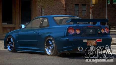 Nissan Skyline R34 DT for GTA 4