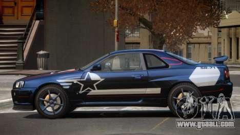 Nissan Skyline R34 GT-Style PJ2 for GTA 4