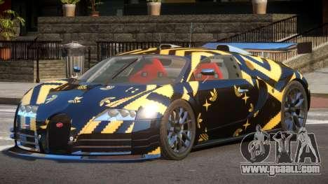 Bugatti Veyron SR 16.4 PJ3 for GTA 4