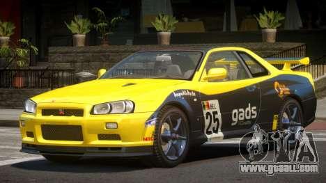 Nissan Skyline R34 GT-Style PJ5 for GTA 4