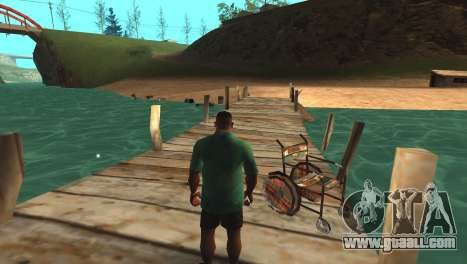 Mystery wheelchairs Lagoon Fisherman for GTA San Andreas
