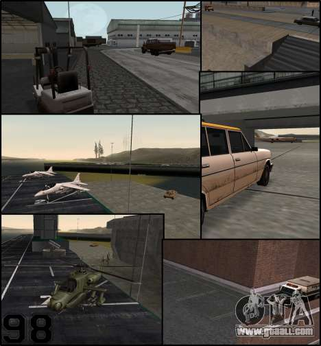 More cars parked around San Andreas State for GTA San Andreas