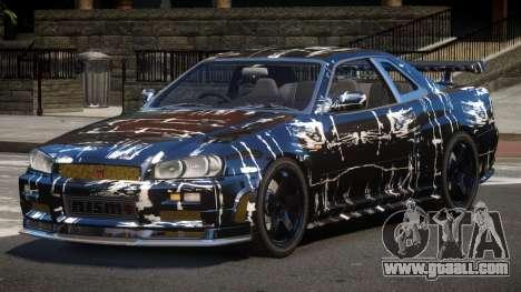 Nissan Skyline R34 SL PJ2 for GTA 4