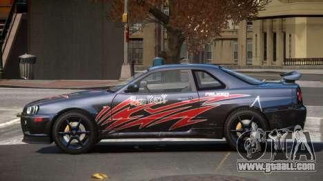 Nissan Skyline R34 GT-Style PJ6 for GTA 4