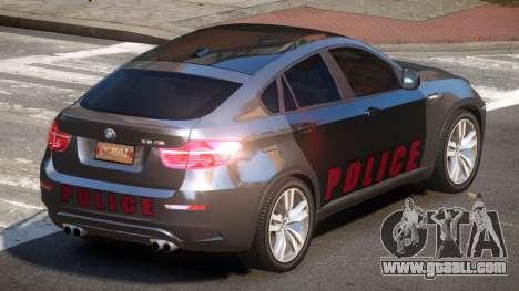 BMW X6M GL Police for GTA 4