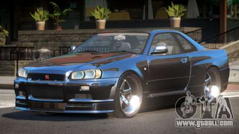 Nissan Skyline R34 SB for GTA 4