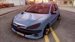 Peugeot 206 Blue for GTA San Andreas