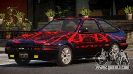 Toyota Corolla AE85 GT PJ1 for GTA 4